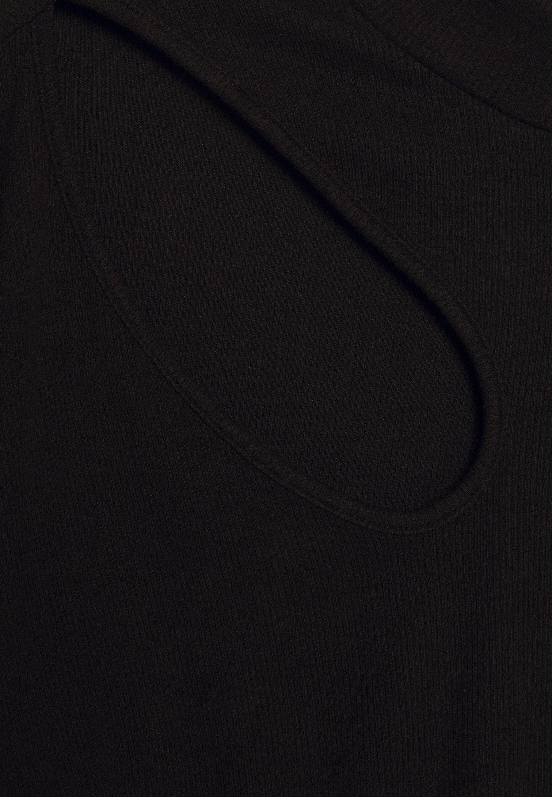 Even&odd Curvy Topper Langermet - Black/svart