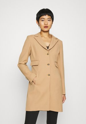CAPPOTTO MONOPETTO - Classic coat - tobacco brown