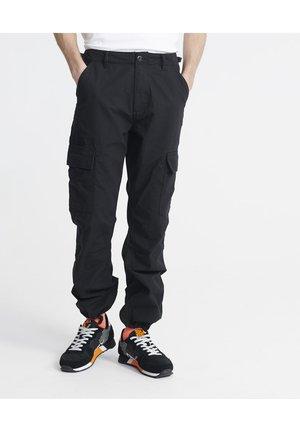 FIELD - Cargo trousers - jet black