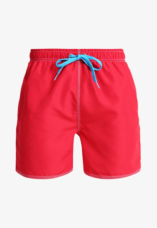 FUNDAMENTALS SOLID - Swimming shorts - red/turquoise