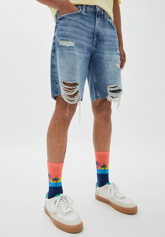 Herrer MIT ZIERRISSEN AM BEIN - Jeans Short / cowboy shorts