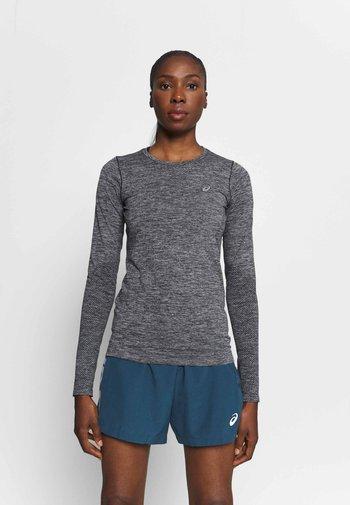 RACE SEAMLESS - Treningsskjorter - dark grey melange