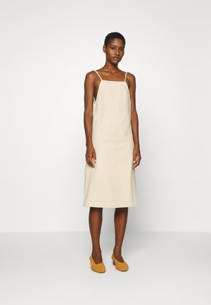 A-LINE MIDI DRESS - Kjole - natural