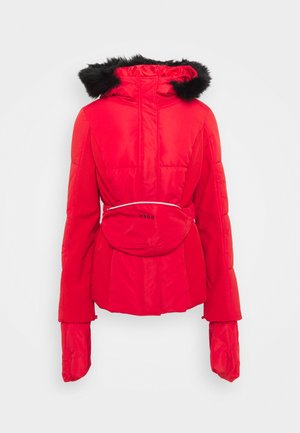 SKI JACKET WITH MITTENS AND BUMBAG  - Winter jacket - red