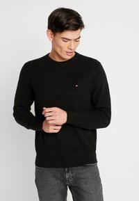 Tommy Hilfiger - CREW NECK - Strikkegenser - black - 0