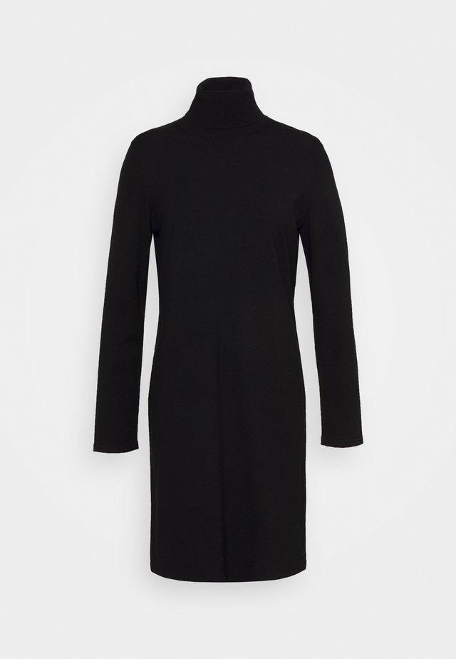 DRESS TURTLE NECK - Vestido de punto - black