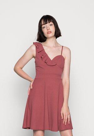 JOLENE A-LINE SKATER DRESS - Žerzejové šaty - dark blush pink