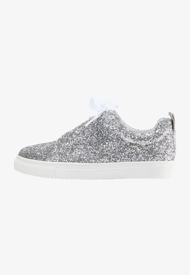 Sneakers laag - silver glitter