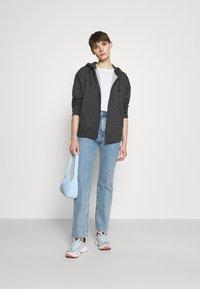 Even&Odd - Oversized Hooded Sweat Jacket - Zip-up hoodie - mottled dark grey - 1