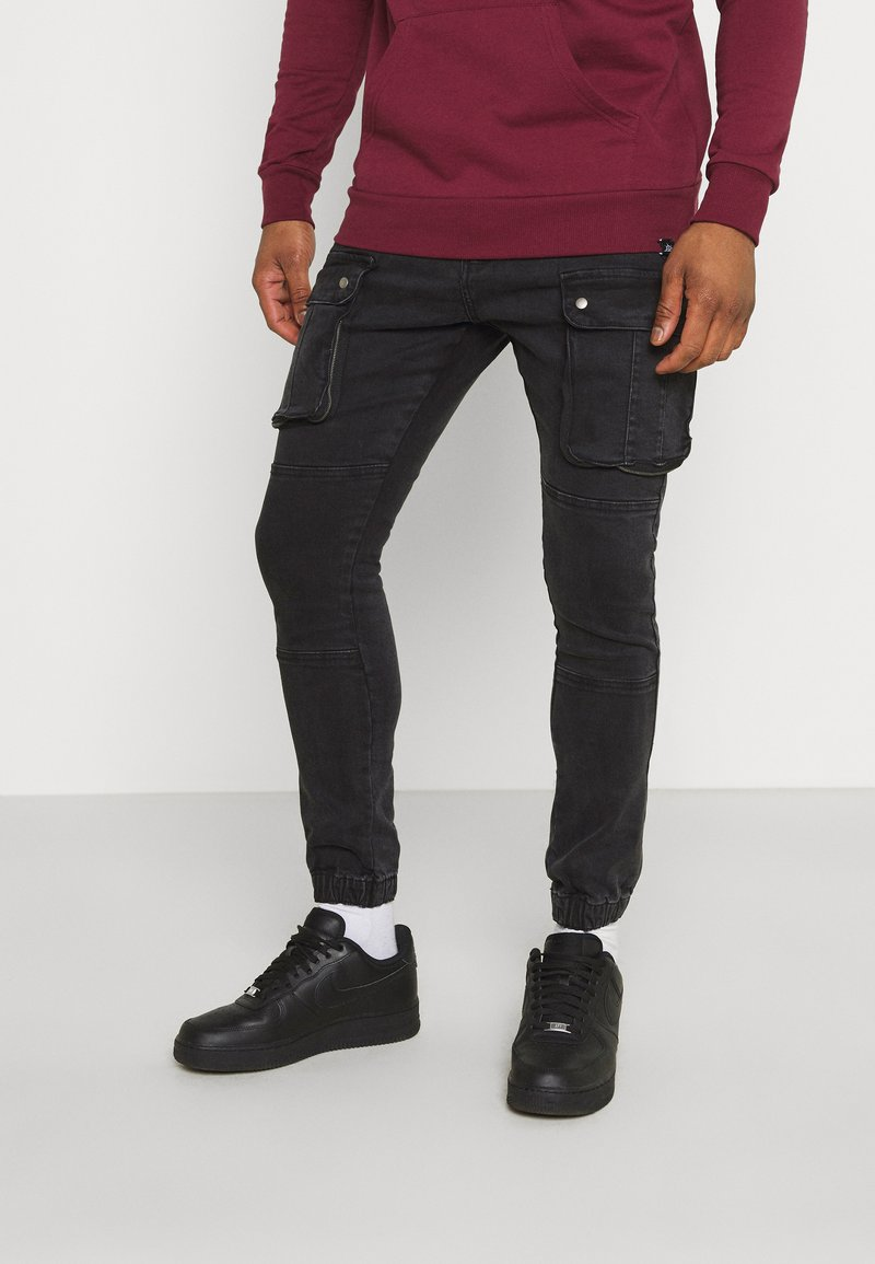 Brave Soul - DUST - Cargo trousers - charcoal