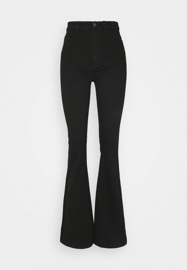 RACHEL HIGH RISE - Flared Jeans - black