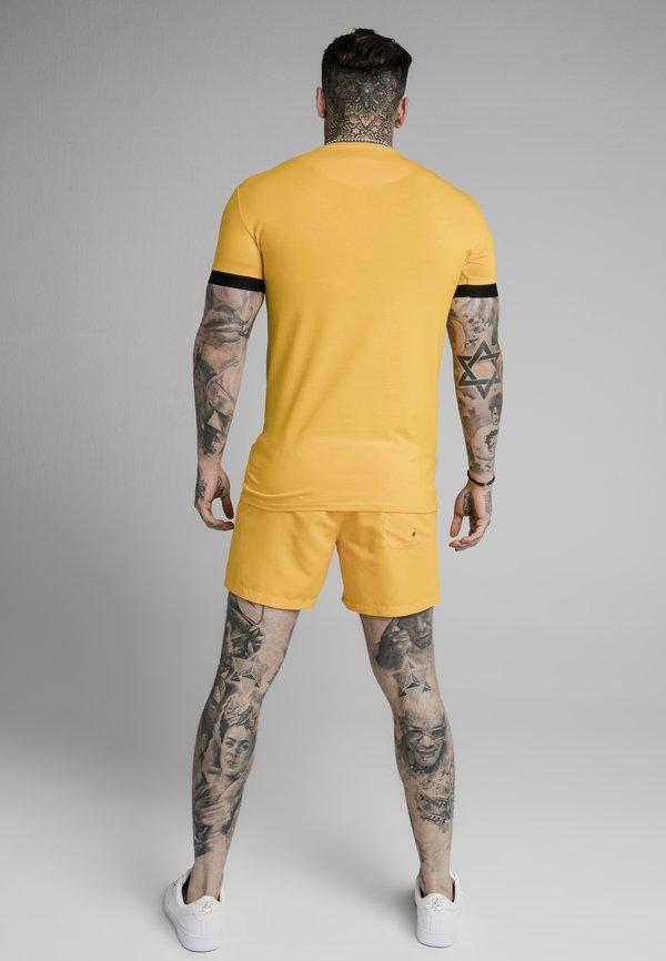 SIKSILK INSET CUFF GYM TEE - T-shirt basic - yellow/żÓłty Odzież Męska VCAC