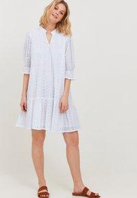 b.young - MIT LOCHSTICKEREI - Day dress - optical white - 1