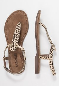 Lazamani - T-bar sandals - beige - 3
