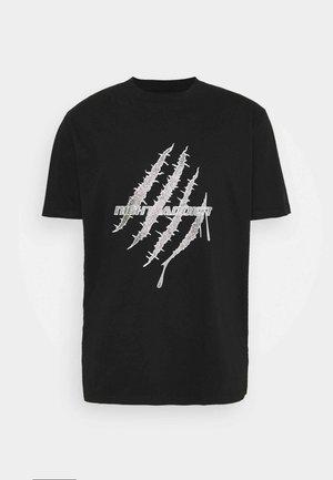 GLITTER - T-shirt con stampa - black