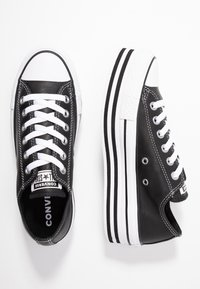 Converse - CHUCK TAYLOR ALL STAR LAYER BOTTOM - Trainers - black/white - 3