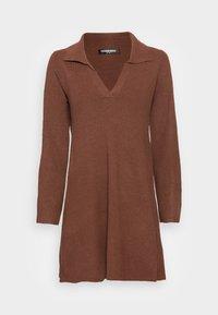 Fashion Union - JEN - Gebreide jurk - chocolate brown - 3
