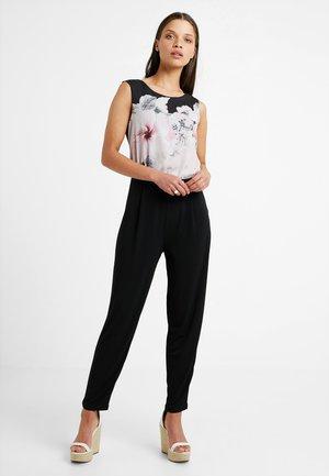 Jumpsuit - black/rose