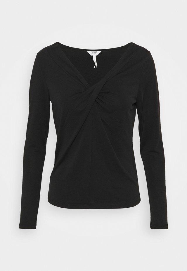 OBJTAMARA TOP - T-shirt à manches longues - black