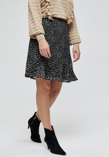 MAJ  - A-line skirt - powder blue dots