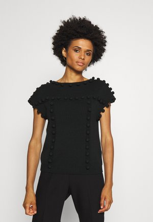BOATNECK BOBBLE - T-Shirt basic - black