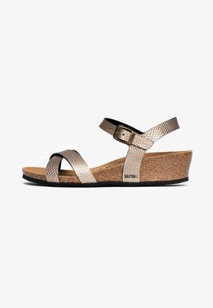 CANBERRA - Sandalen met plateauzool - light brown