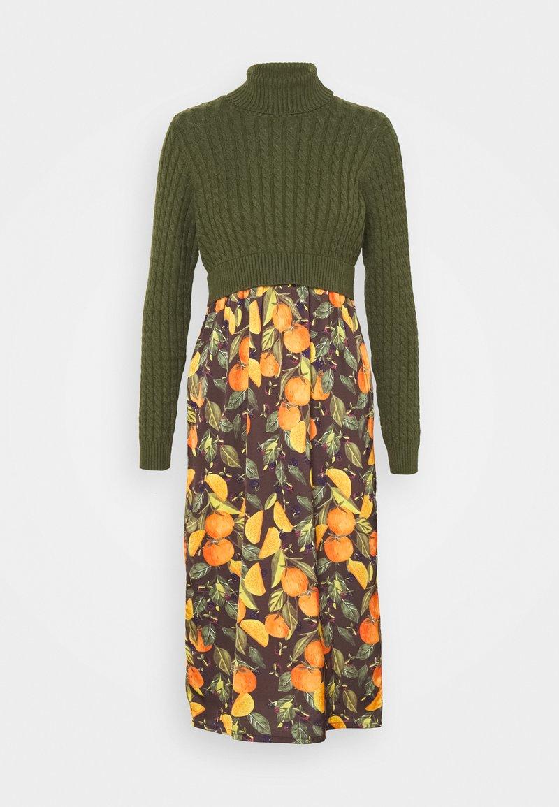 Never Fully Dressed Petite - SLIP DRESS - Robe longue - orange
