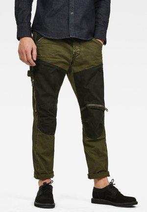 5620 WORKWEAR 3D ZIP STRAIGHT - Pantaloni cargo - dk bronze green