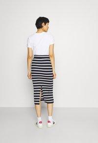 GANT - BRETON STRIPE SKIRT - Pencil skirt - evening blue - 2