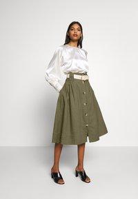 esmé studios - TASJA SKIRT - A-line skirt - dusky green - 1