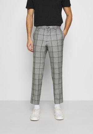 LEYDEN CROPPED SLIM TROUSER - Pantalon classique - grey