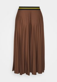 Esprit - PLEATED SKIRT - A-line skirt - brown - 1