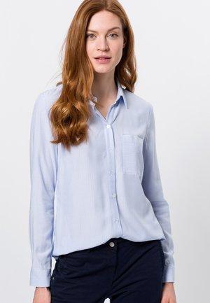 Overhemdblouse - fresh blue
