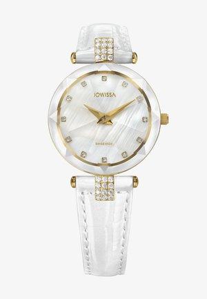 QUARZUHR FACET STRASS SWISS - Chronograph watch - weiß