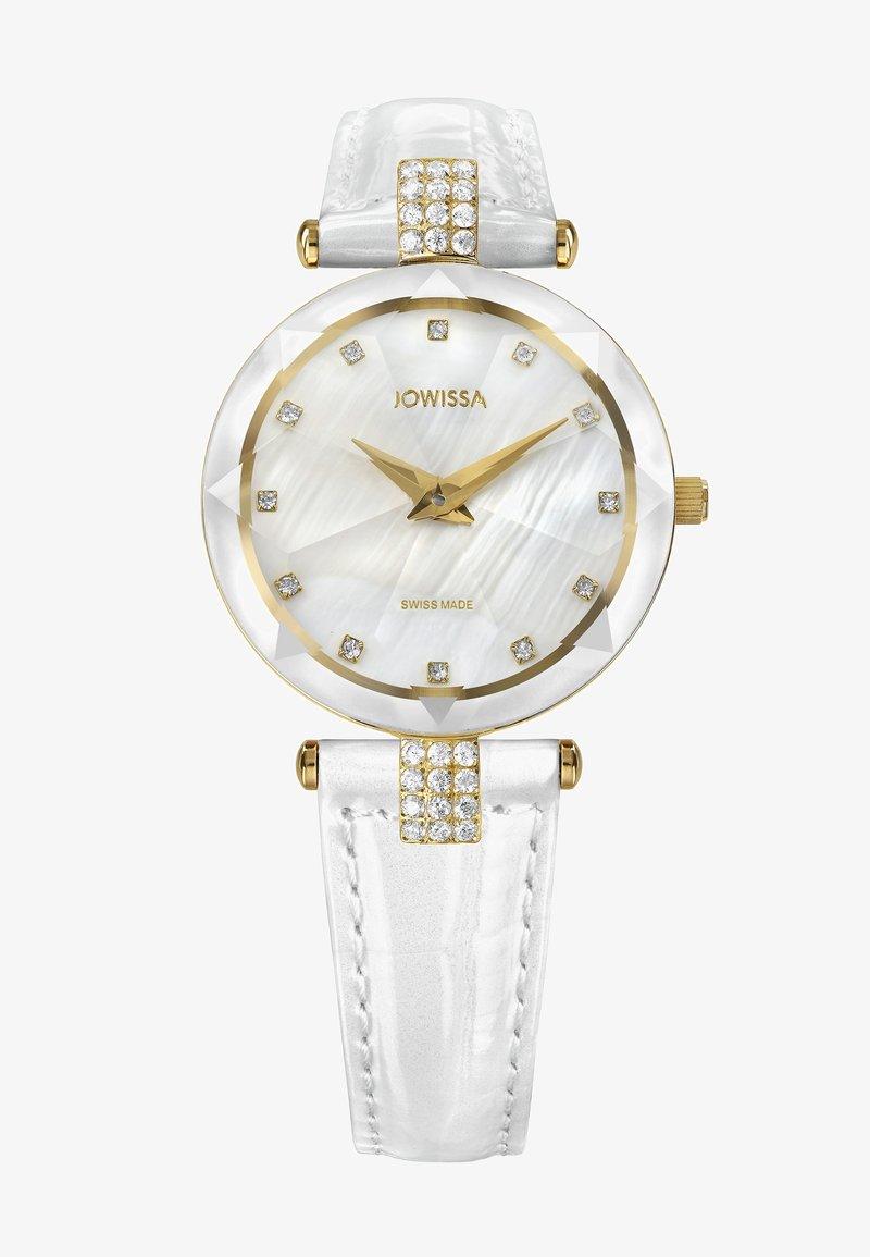 Jowissa - QUARZUHR FACET STRASS SWISS - Chronograph watch - weiß