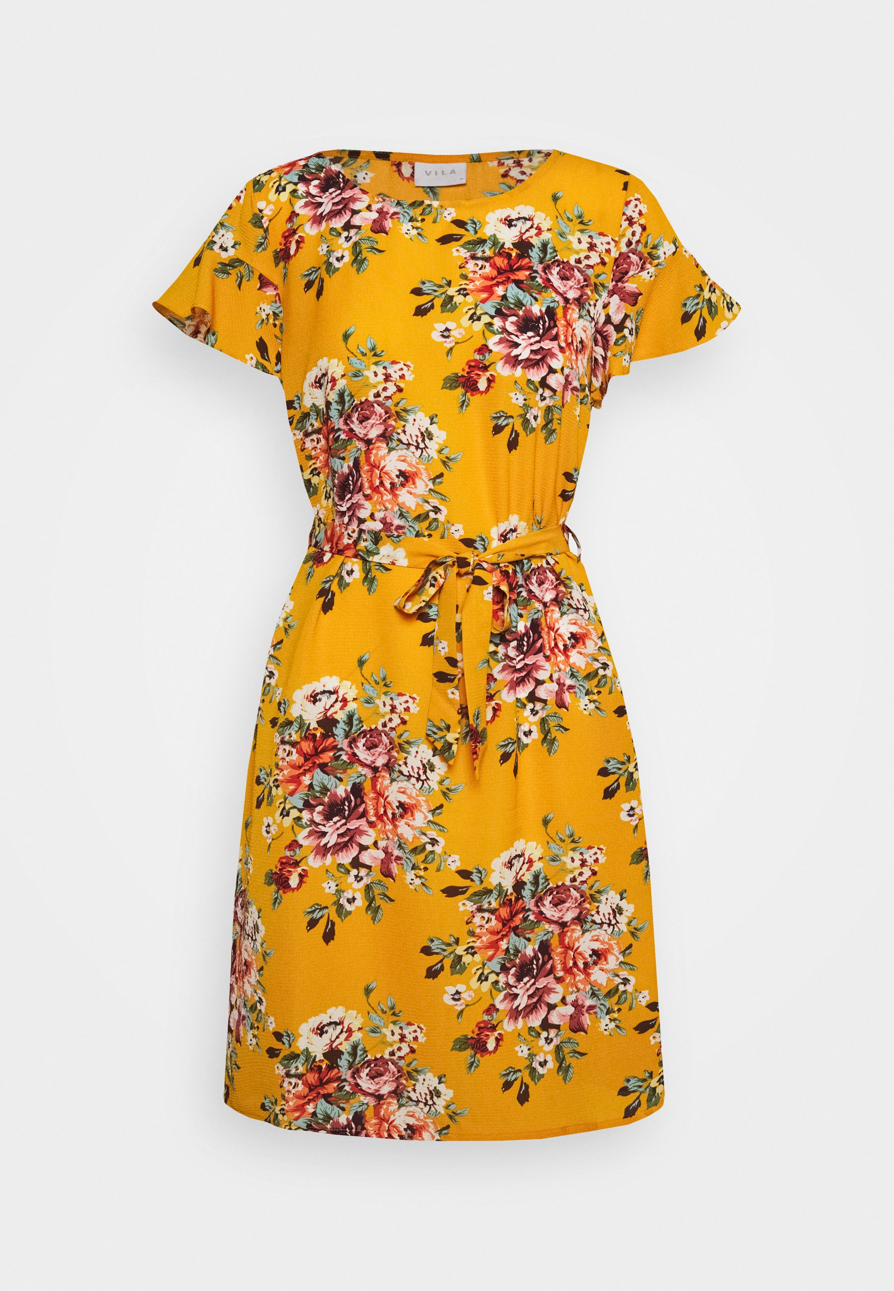 vidiana lucy flounce dress - freizeitkleid - mineral yellow