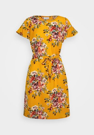 VIDIANA LUCY FLOUNCE DRESS - Vestido informal - mineral yellow