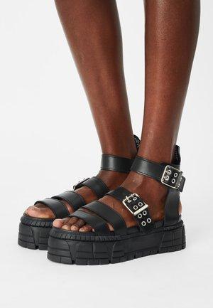 FANILTA - Platform sandals - black