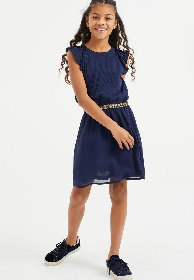 MET PAILLETTEN - Korte jurk - dark blue