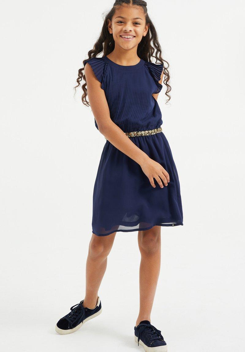 WE Fashion - MET PAILLETTEN - Robe d'été - dark blue