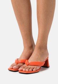 River Island - Pantofle na podpatku - orange - 0