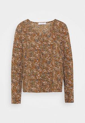 ONLLIMA V NECK  - Long sleeved top - rust