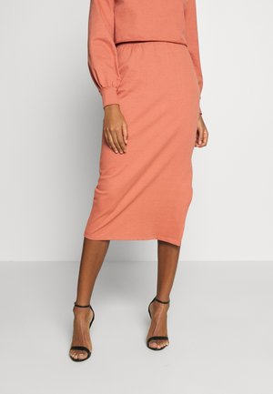 MIDI SKIRT - Pencil skirt - faded rust
