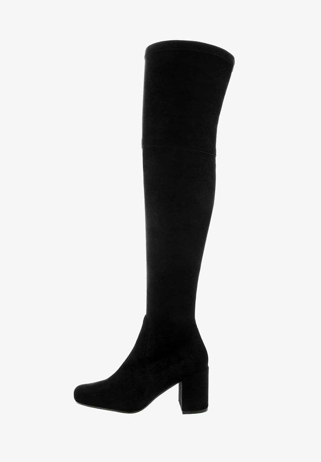 ALBANETO - Overknee laarzen - black