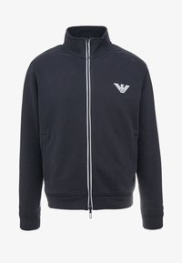 Emporio Armani - veste en sweat zippée - navy blue - 4