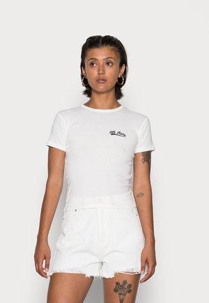 BABY SCRIPT TEE - T-shirt basic - white