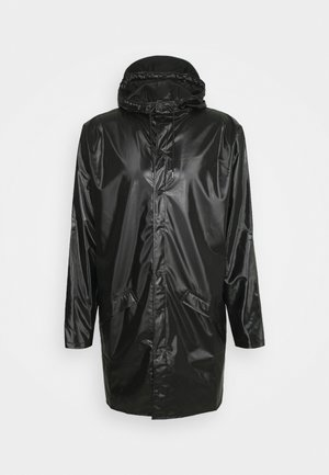 LONG JACKET UNISEX - Regnjakke - shiny black