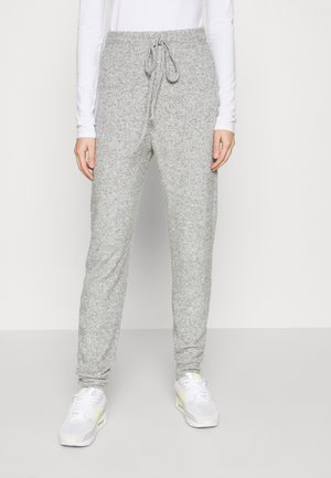 ONLFANDY LOUNGE PANTS - Tracksuit bottoms - light grey melange