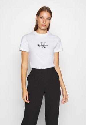 GLITTER MONOGRAM TEE - Print T-shirt - bright white