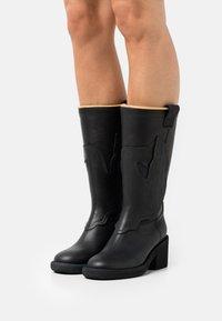 MM6 Maison Margiela - STIVALE - Cowboy/Biker boots - black - 0
